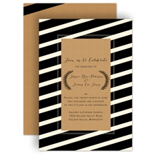 Bold Display - Ecru - Invitation