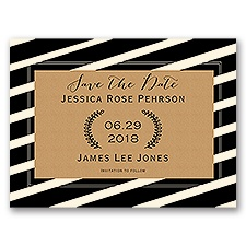 Bold Display - Ecru - Save the Date Card