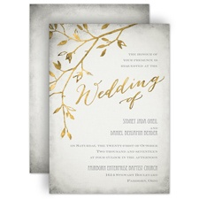 Leaves of Gold Wedding Invitation