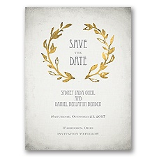 Leaves of Gold - Save the Date Card