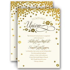 Gold Confetti - Invitation