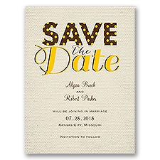 Spotlight on Love - Ecru - Save the Date Card