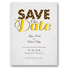 Spotlight on Love - Save the Date Card