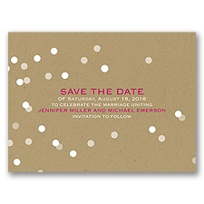 Bright Lights - Save the Date Card