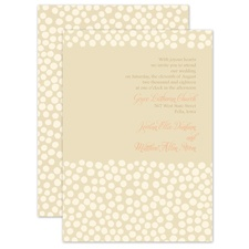 Pebbles and Pearls Ecru Brown Wedding Invitation