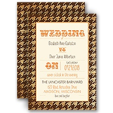 Houndstooth Frame - Ecru - Invitation