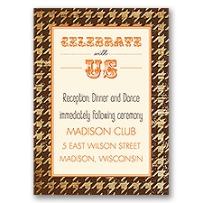 Houndstooth Frame - Ecru - Reception Card