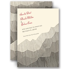 Mountain Shadows - Ecru - Save the Date Card