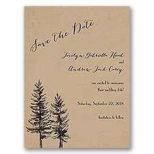 Spruced Up - Save the Date Card