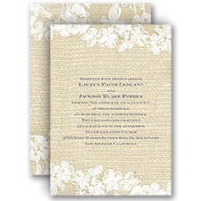 Lace Finish Vintage Wedding Invitation