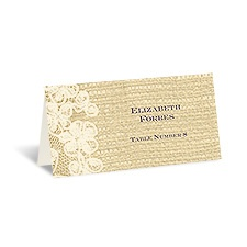 Lace Finish - Ecru - Escort Card