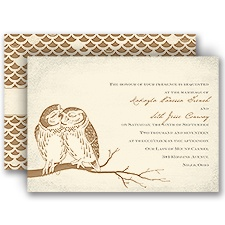 Owl Be Yours - Ecru - Invitation