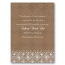Antique Lace - Reception Card