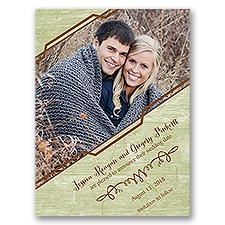 Modern Rustic - Save the Date Card