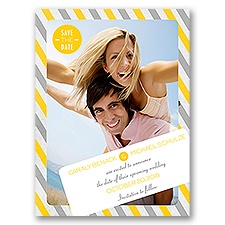 Carnival Stripes - Save the Date Card