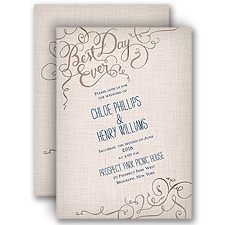 Calligraphy on Burlap - Invitation