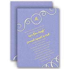 All Awhirl Wedding Invitation