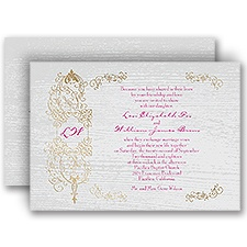 Casual Elegance - Gold - Foil Invitation