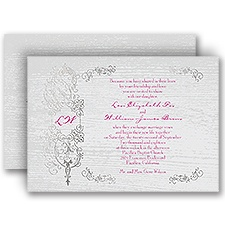 Casual Elegance Silver Foil Wedding Invitation