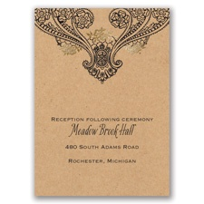 Henna Allure - Gold - Foil Reception Card