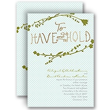 Have and Hold - Gold - Foil Invitation