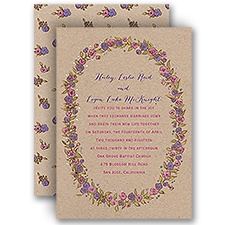 Lovable Roses Silver Foil Wedding Invitation