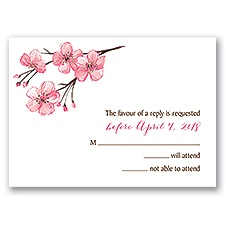 Blooming Border - Gold - Foil Response Card