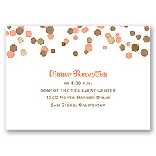 We Spotted Love - Gold - Foil Reception Card