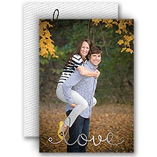 Woven with Love - Silver - Foil Invitation