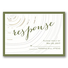 Promise Rings - Gold - Foil Response Card
