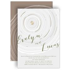 Promise Rings Gold Foil Rustic Wedding Invitation