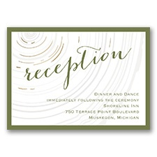 Promise Rings - Gold - Foil Reception Card