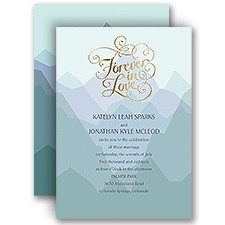 Nature's Inspiration Gold Foil Wedding Invitation