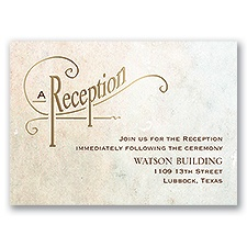 Simply Dreamy - Gold - Foil Reception Card
