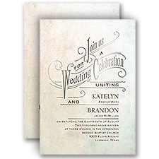 Simply Dreamy Silver Foil Wedding Invitation