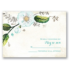 Delicate Creations - Gold - Foil Response Card