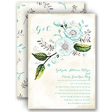 Delicate Creations - Silver - Foil Invitation