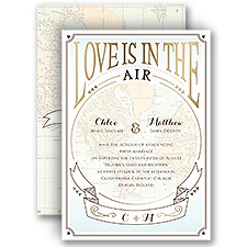 Taking Flight Gold Foil Wedding Invitation
