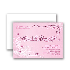 Disney- Always Accessorize Real Glitter Shower Invitation - Miss Piggy
