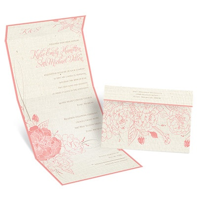 Floral Linen Seal And Send Wedding Invitation At Invitations By Dawn