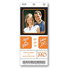 Sports Ticket Modern Save the Date