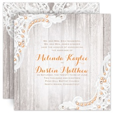 Country Affair Rustic Wedding Invitation