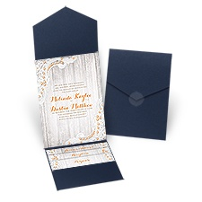 Country Affair - Navy - Pocket Invitation