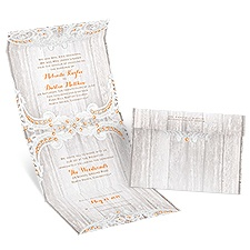 Country Affair Seal and Send Wedding Invitation