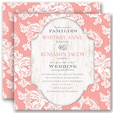 Lace Love Pink Wedding Invitation