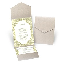 Enchanted - Gold Shimmer - Pocket Invitation
