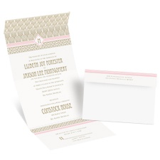 Sweet Romance Seal and Send Wedding Invitation