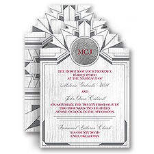 Art Deco Debut Wedding Invitation