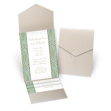 Grand Presentation - Gold Shimmer - Pocket Invitation