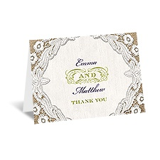 Embroidered Embrace - Thank You Card